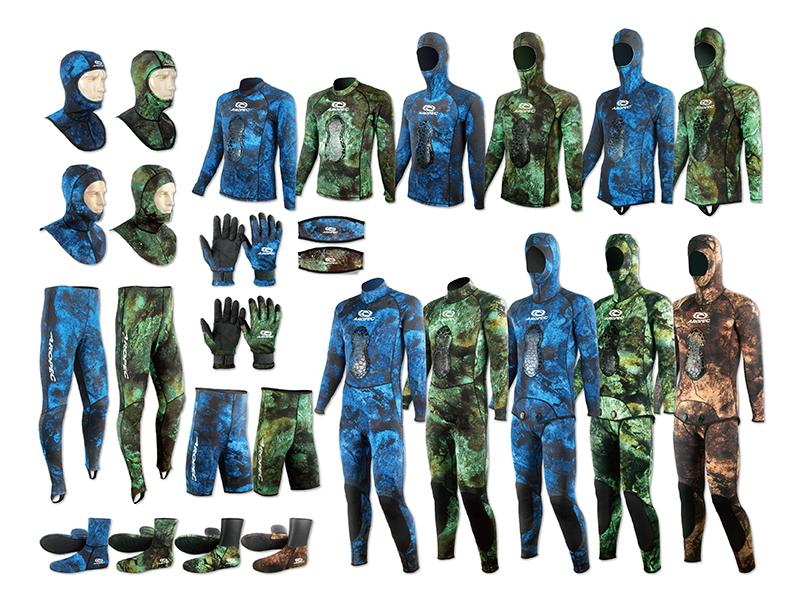 打獵潛水迷彩防寒衣及配件