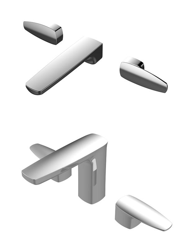 Pan 2 Two-Handle Basin Faucet /wall-mounted basin Faucet