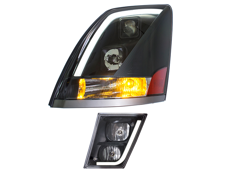 TOPOWER SKYLINE DAWN COMMERCIAL TRUCK HEADLIGHT/FOG LIGHT WITH LED LIGHT BAR