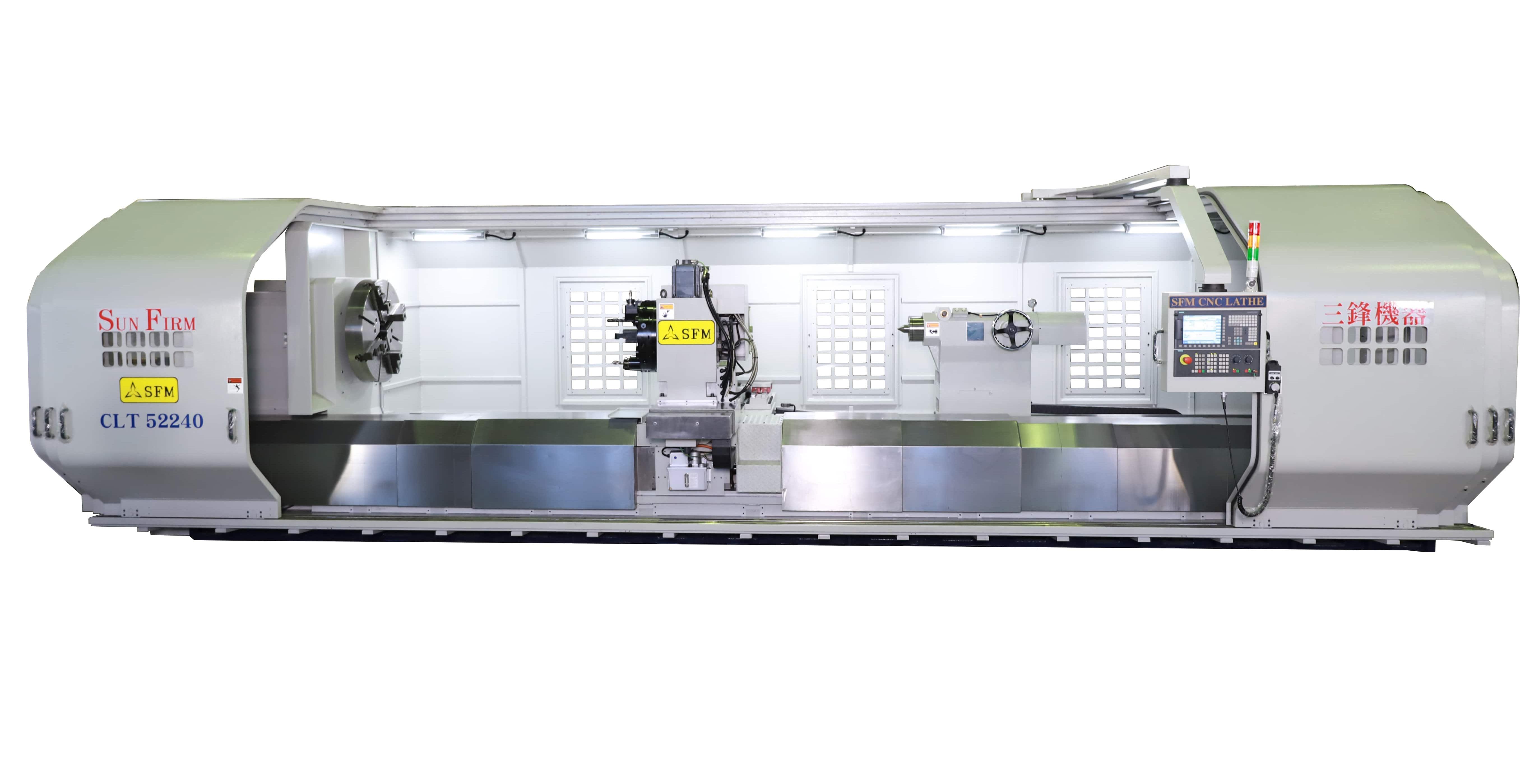 多軸同動多導軌超重切削智慧化數控車床-三鋒機器工業股份有限公司