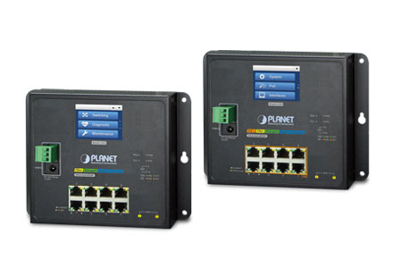 Industrial Flat-type L2+ Managed Switch with Color Touch LCD Series / PLANET Technology Corporation