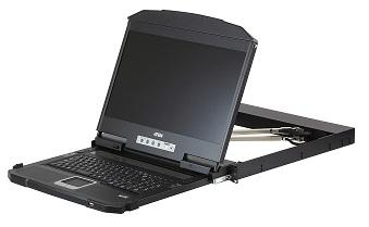 短機身USB HDMI DVI VGA雙滑軌LCD控制端 / 宏正自動科技股份有限公司