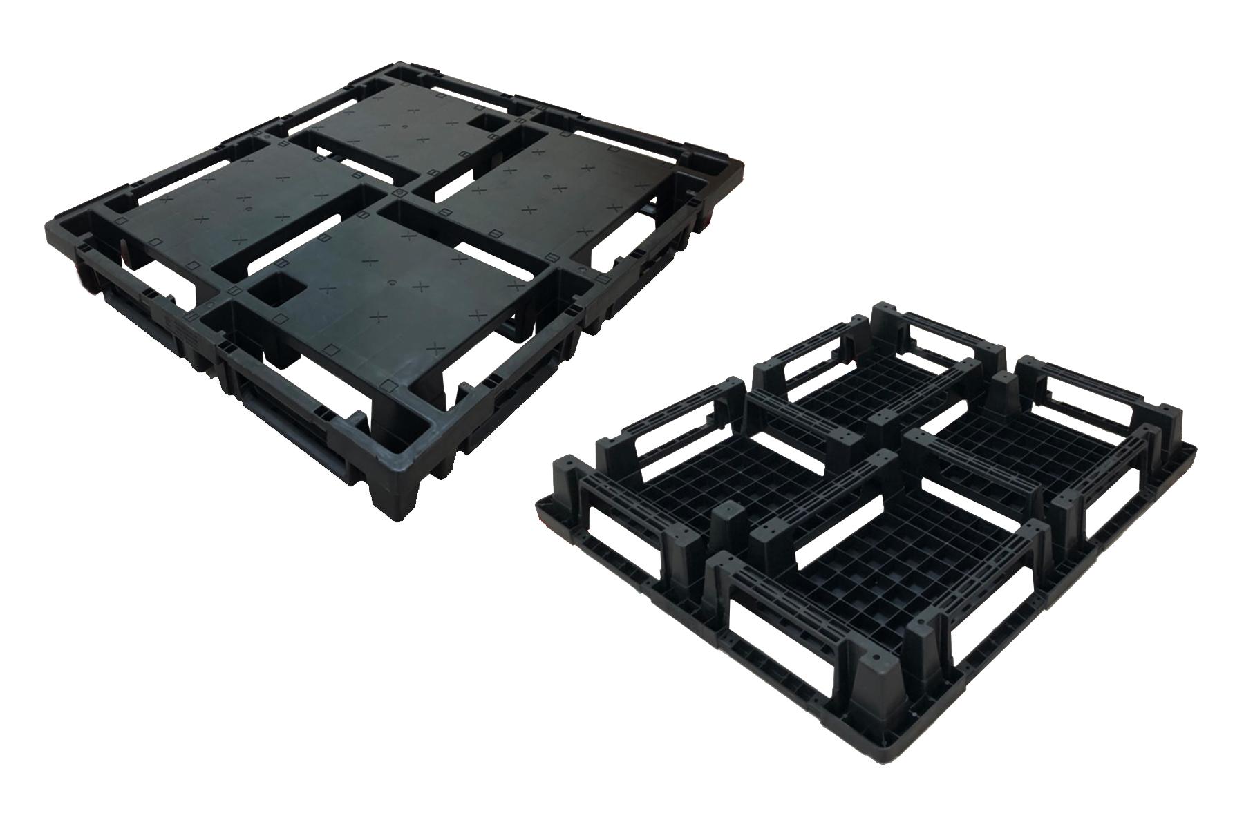 可套疊十字口型塑膠棧板