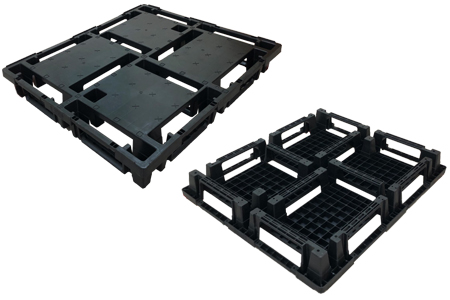 可套疊十字口型塑膠棧板 / 哈林企業股份有限公司