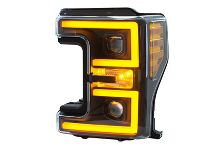pickup/truck headlight with high performance dual color (amber/white)led light bar / Topower Co., Ltd.
