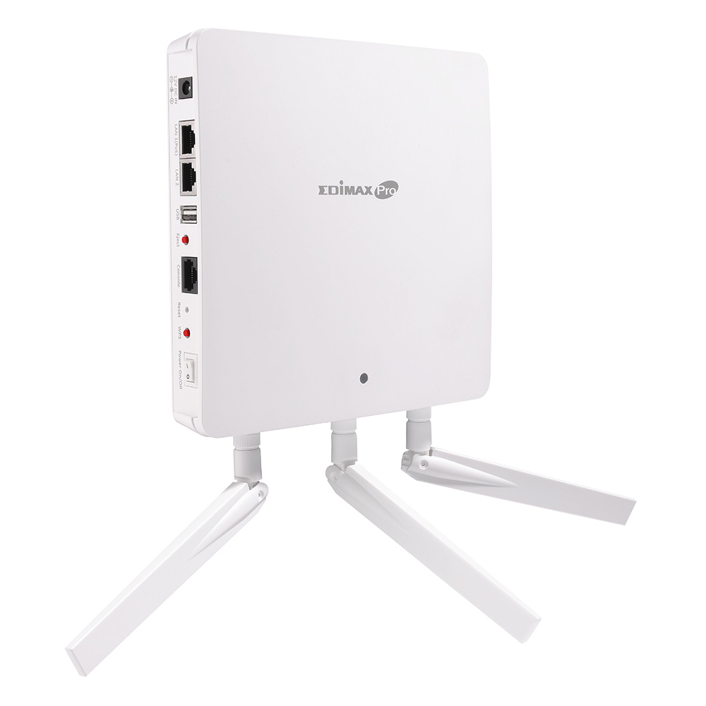 3 x 3 AC1750 Dual-Band Wall-Mount PoE Access Point