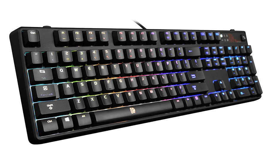 Thermaltake Technology Co., Ltd.-Thermaltake Gaming Tt eSPORTS POSEIDON Z RGB (Blue Switch) Gaming Keyboard