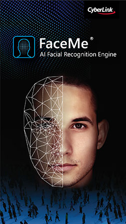 úng dụng nhận dạng khuôn mặt dựa trên AI FaceMe® / CyberLink Corp.