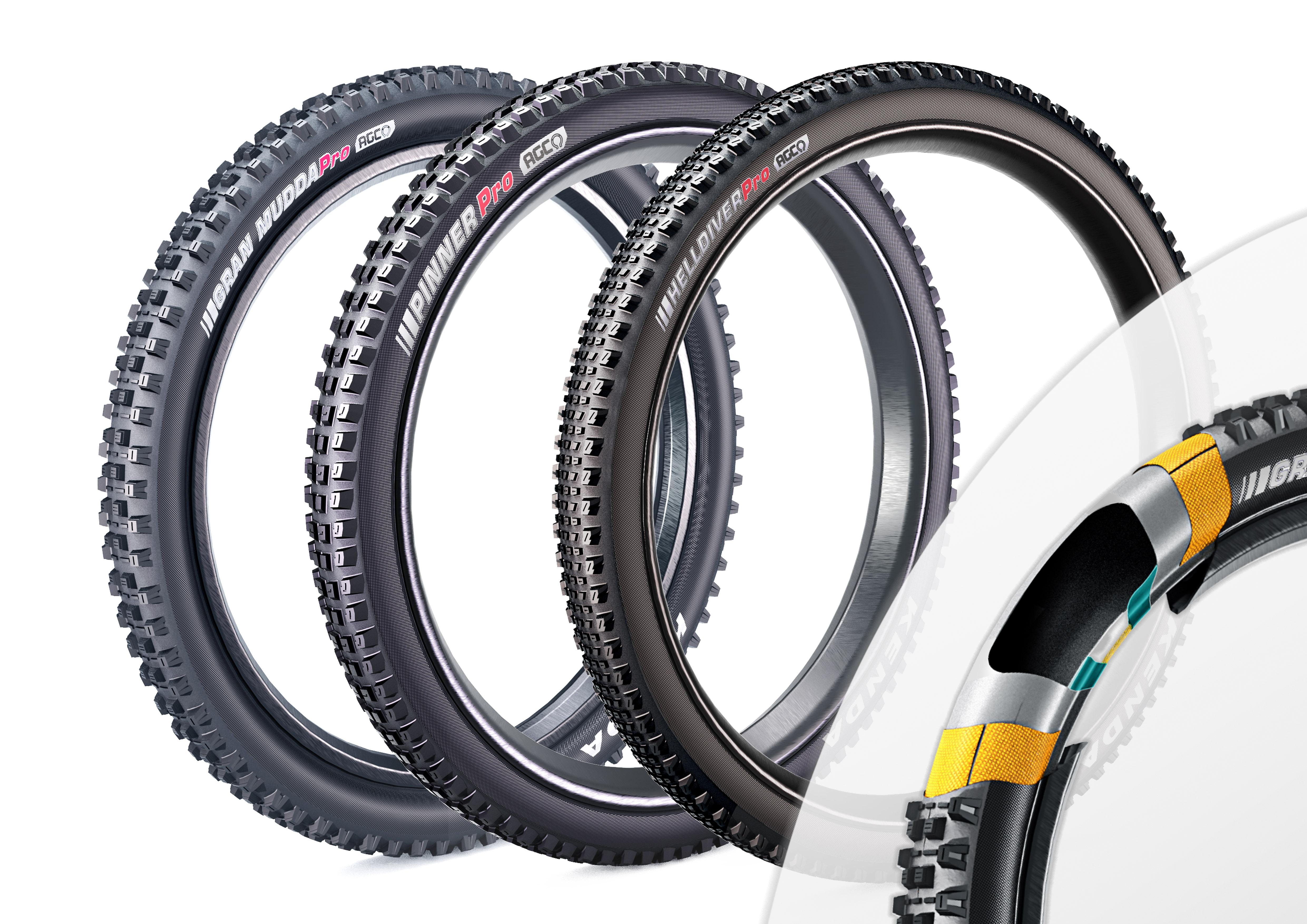 AGC越野下坡自行車用胎技術
