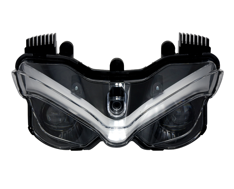 V型フルLEDモータサイクルヘッドランプ