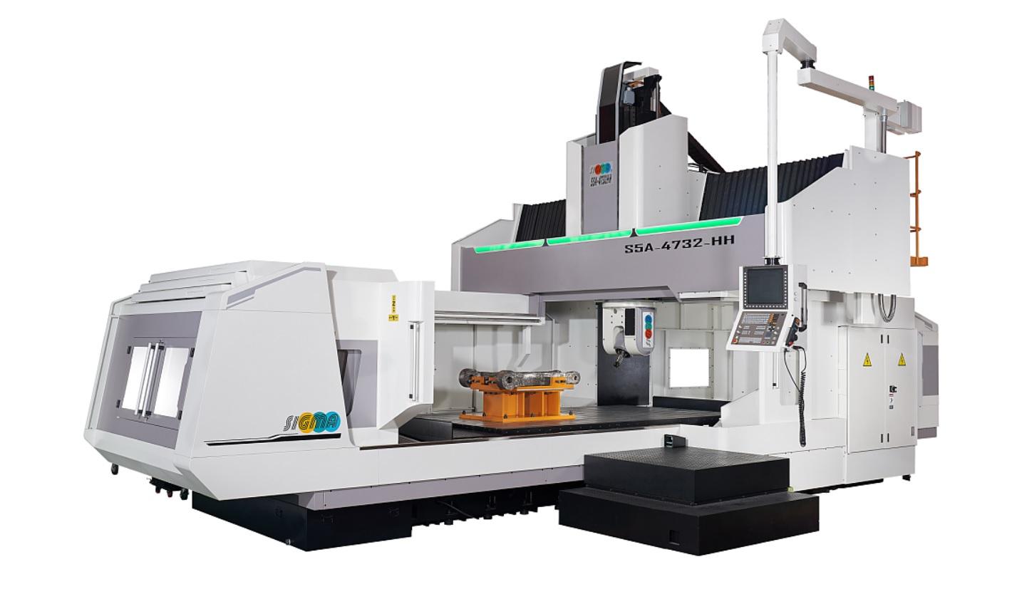 CNC五軸重切削型龍門加工中心機 / 新穎機械工業股份有限公司