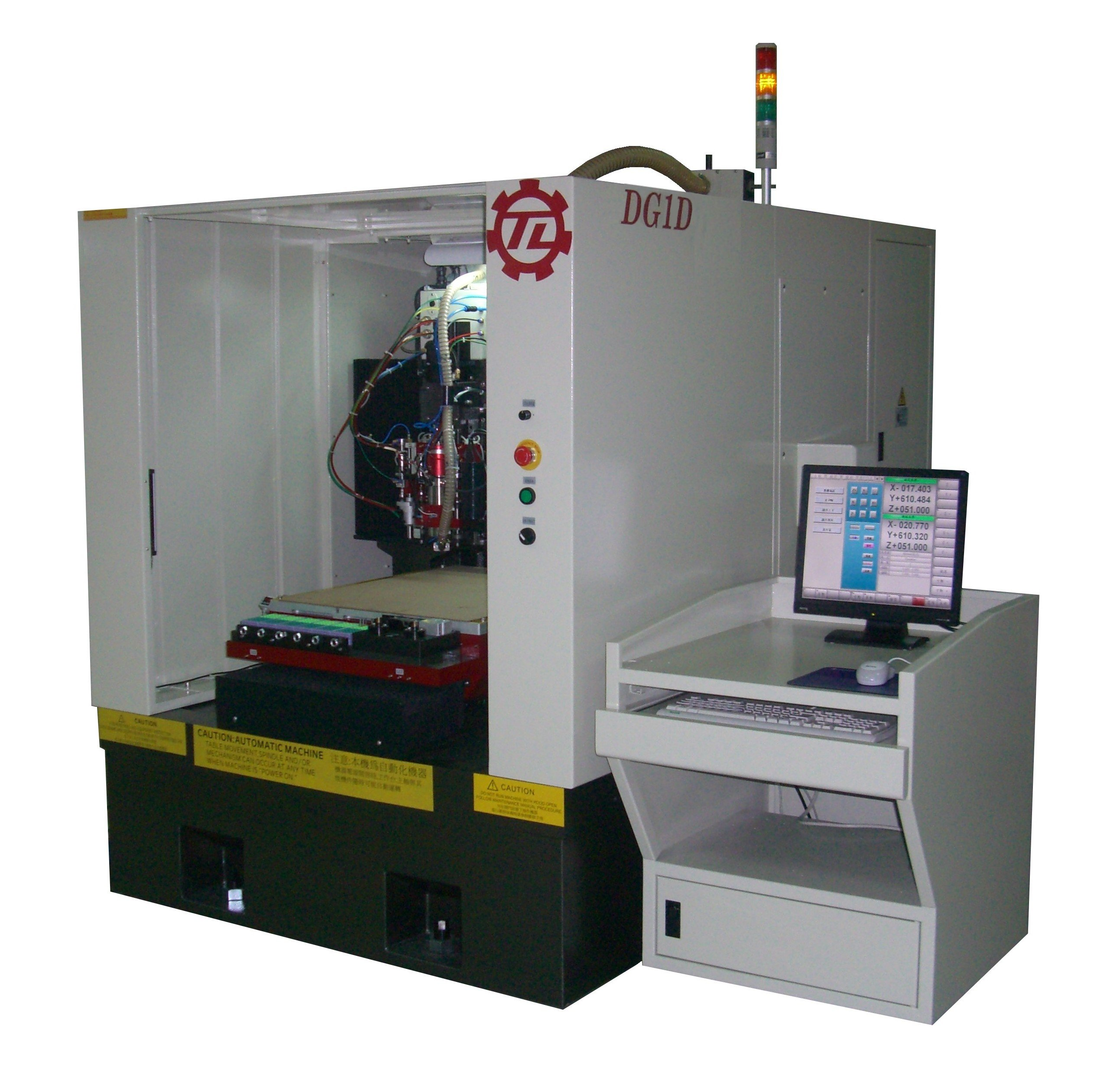 Single spindle CCD drilling machine