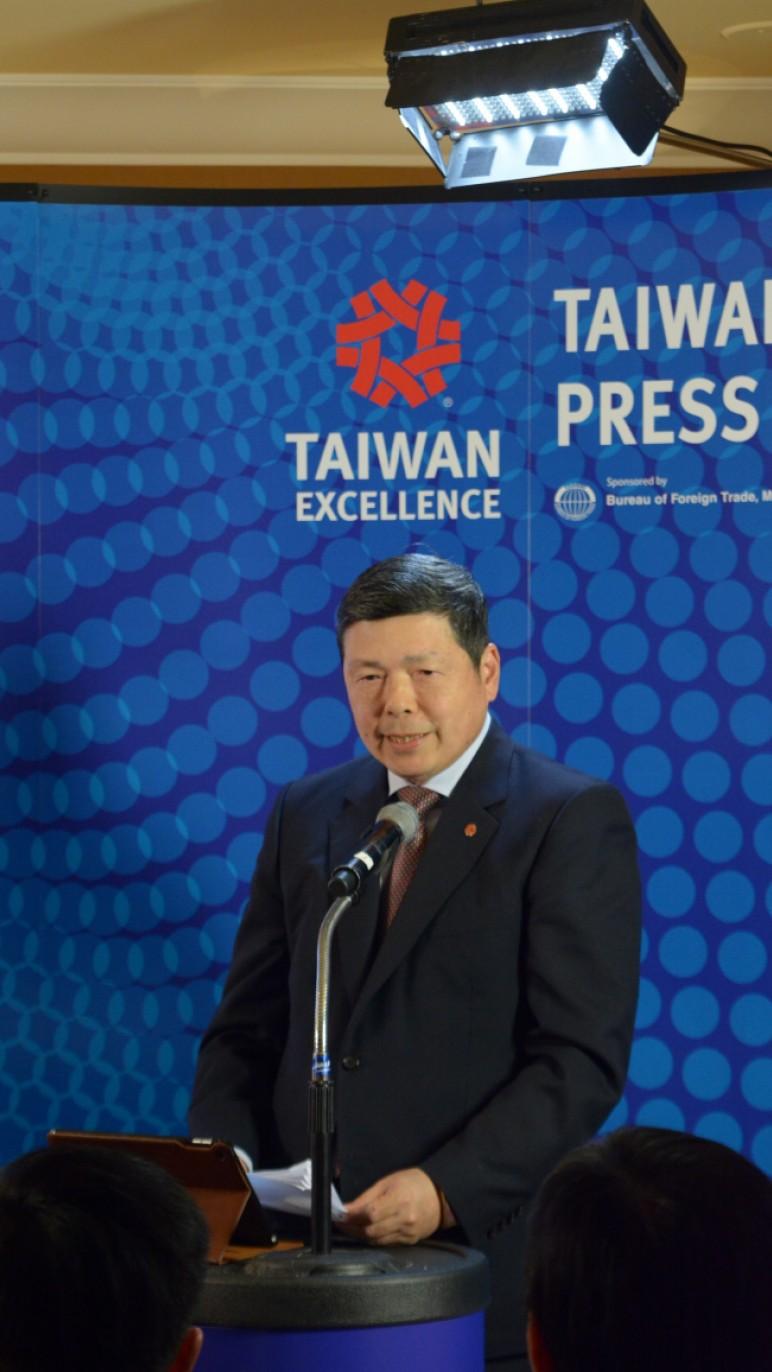 外貿協會葉明水秘書長於2018 CES台灣精品記者會致歡迎詞