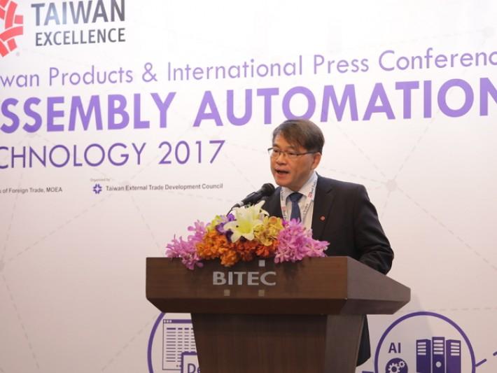 駐泰國代表處經濟組許志明組長於台灣精品新產品研討會致歡迎詞