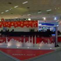 臺灣館整體造型大方明亮。