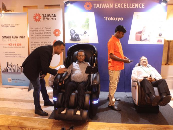 貿協駐新德里辦事處開幕 台灣精品體驗區吸睛