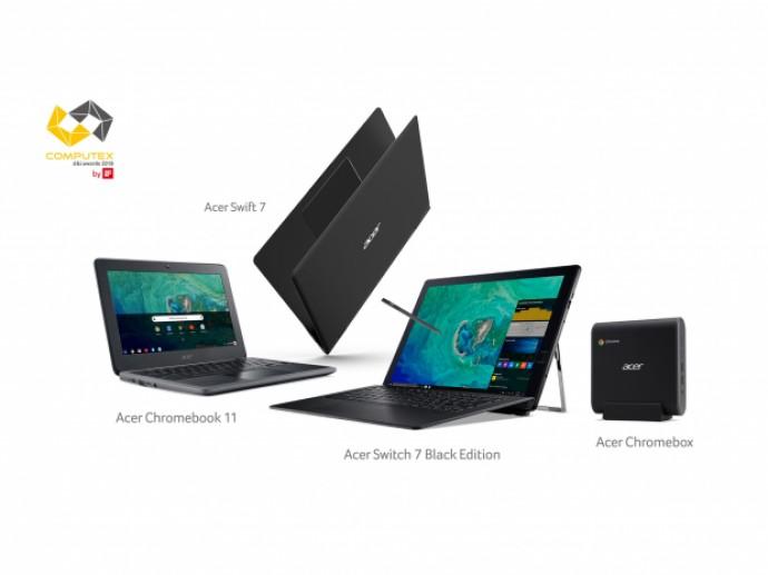 宏碁Chromebook 11勇奪2018 台北國際電腦展 創新設計獎最高榮譽—金質獎