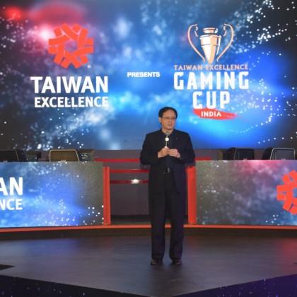 外貿協會王熙蒙副秘書長於致詞時,熱情邀請更多印度喜愛電競遊戲的民眾參加印度台灣精品盃電競賽