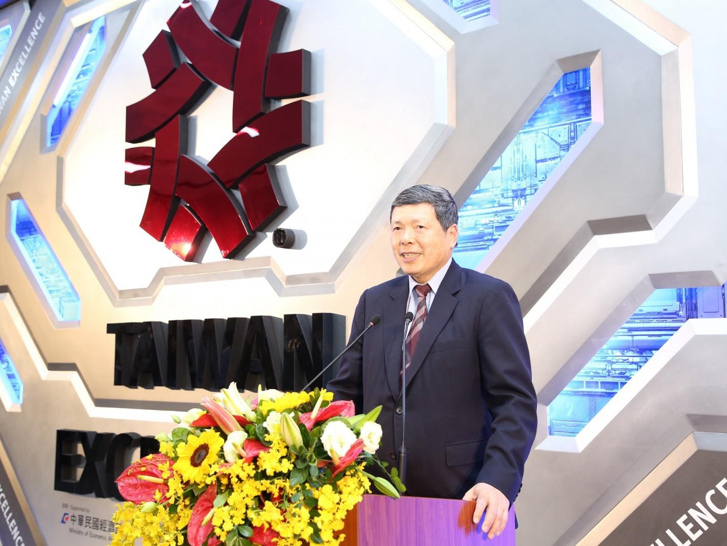 外貿協會葉明水秘書長參與台灣精品館改裝開幕茶會