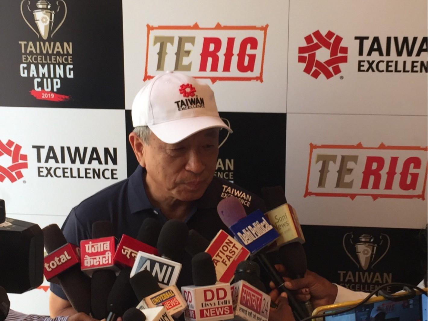 駐印度台北經濟文化中心大使田中光出席電競賽啟動記者會 並接受當地媒體專訪