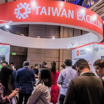 台灣精品產品展示區人潮絡繹不絕