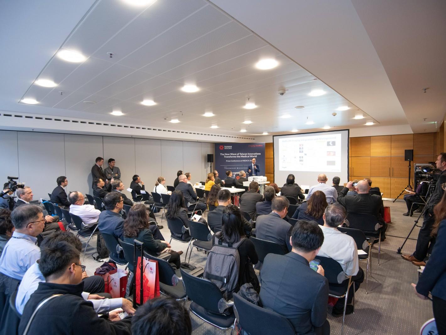 2019 MEDICA台灣精品館國際記者會吸引超過60位媒體及買主前來