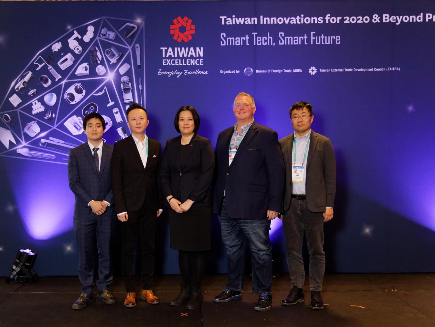 (圖一)台灣精品CES展前記者會邀請訊連、拓連、麥迪創及艾創發表創新產品